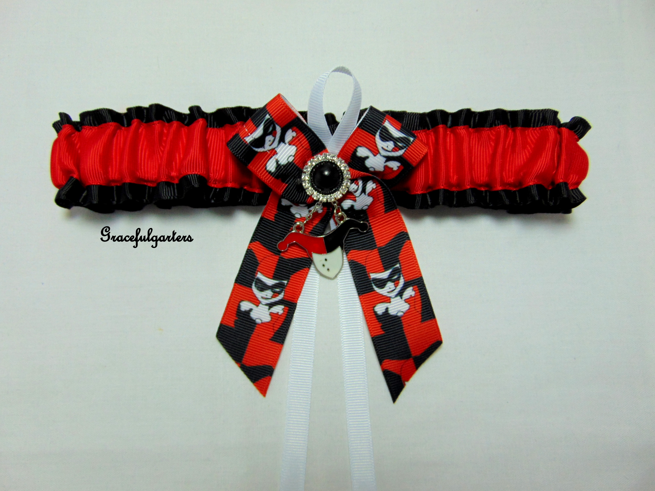 Supervillain Harley Quinn Bridal Wedding Garter