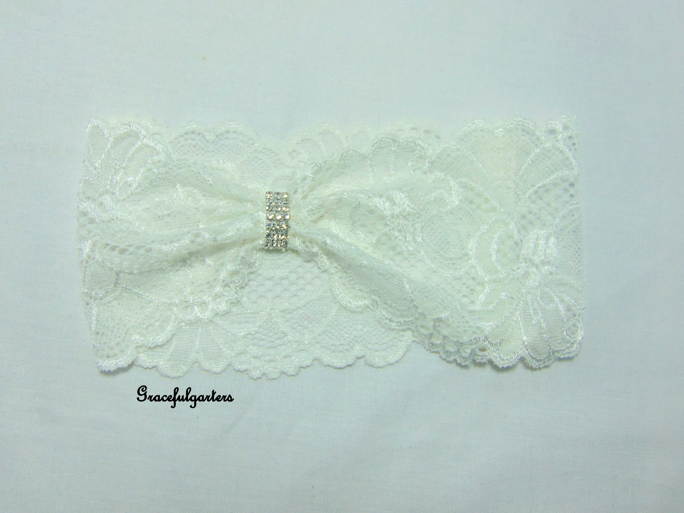 Ivory Lace Stretch Bridal Wedding Garter