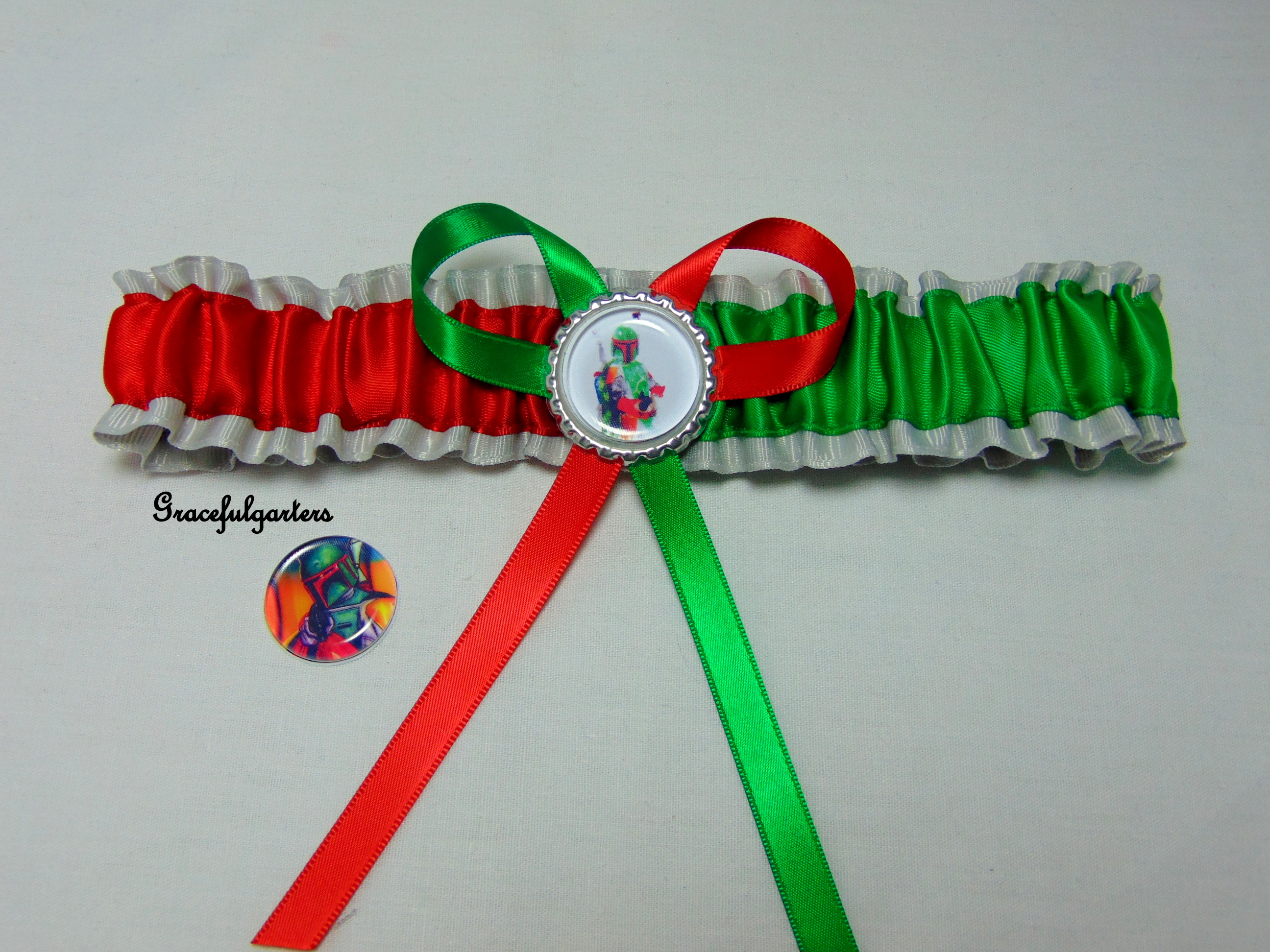 Starwars Boba Fett Bridal Wedding Garter