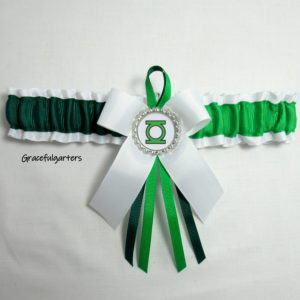 Green Lantern Villain Bridal wedding Garter