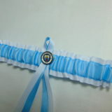 Manchester City Football Team Bridal Wedding Garter.Official Badge