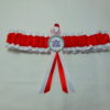 Red And White Football Team Sports Bridal Wedding Garter (Any Team)