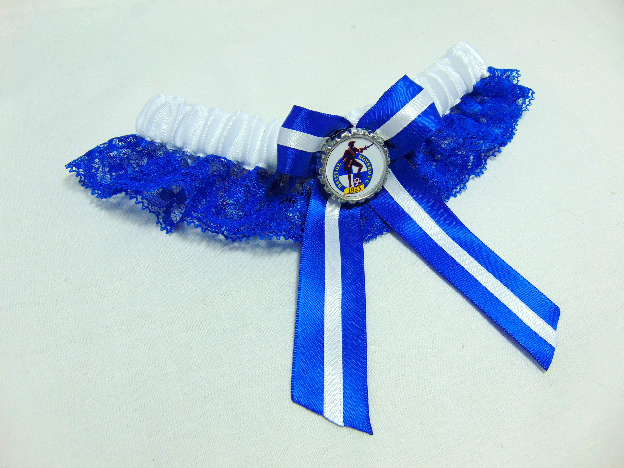 bristol rovers lace football team bridal wedding garter