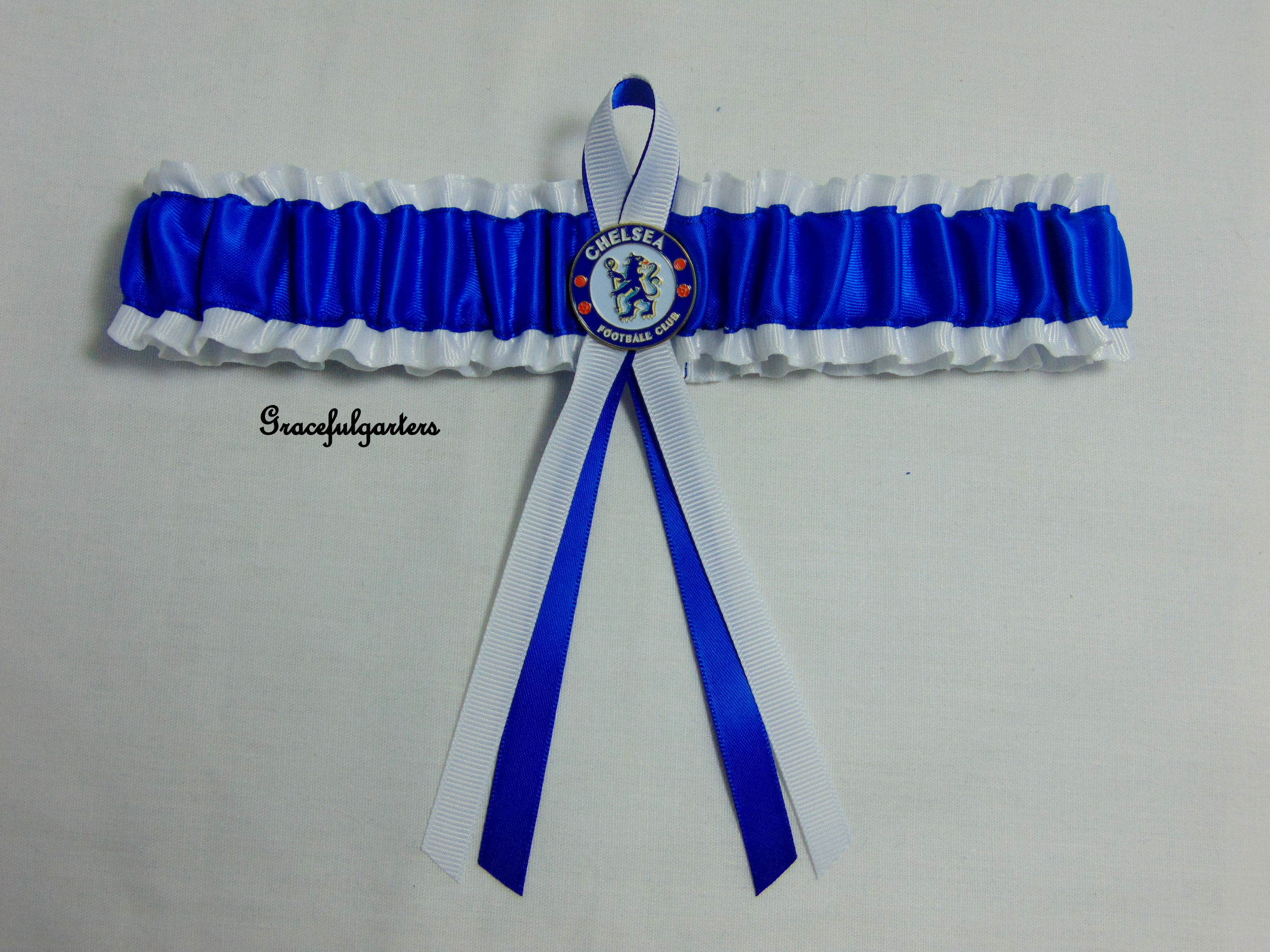Chelsea football team bridal wedding garter