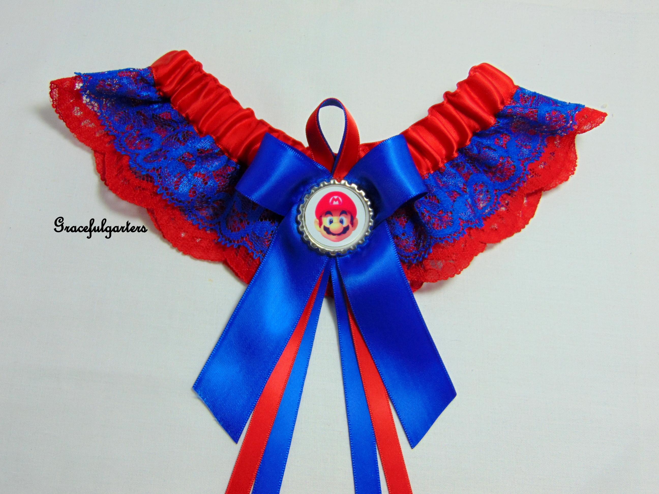 Super Mario Lace Bridal Wedding Garter
