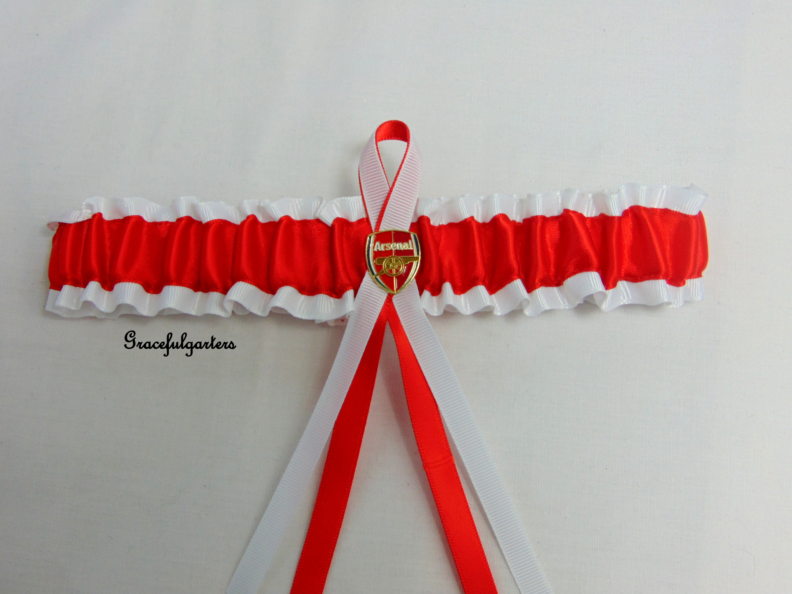 arsenal football team bridal wedding garter