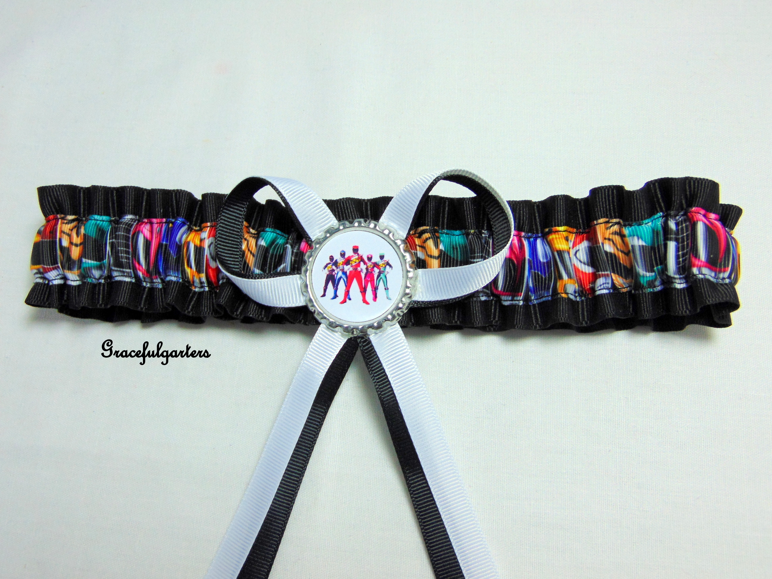 Mighty Morphin Power Rangers Bridal Wedding Garter
