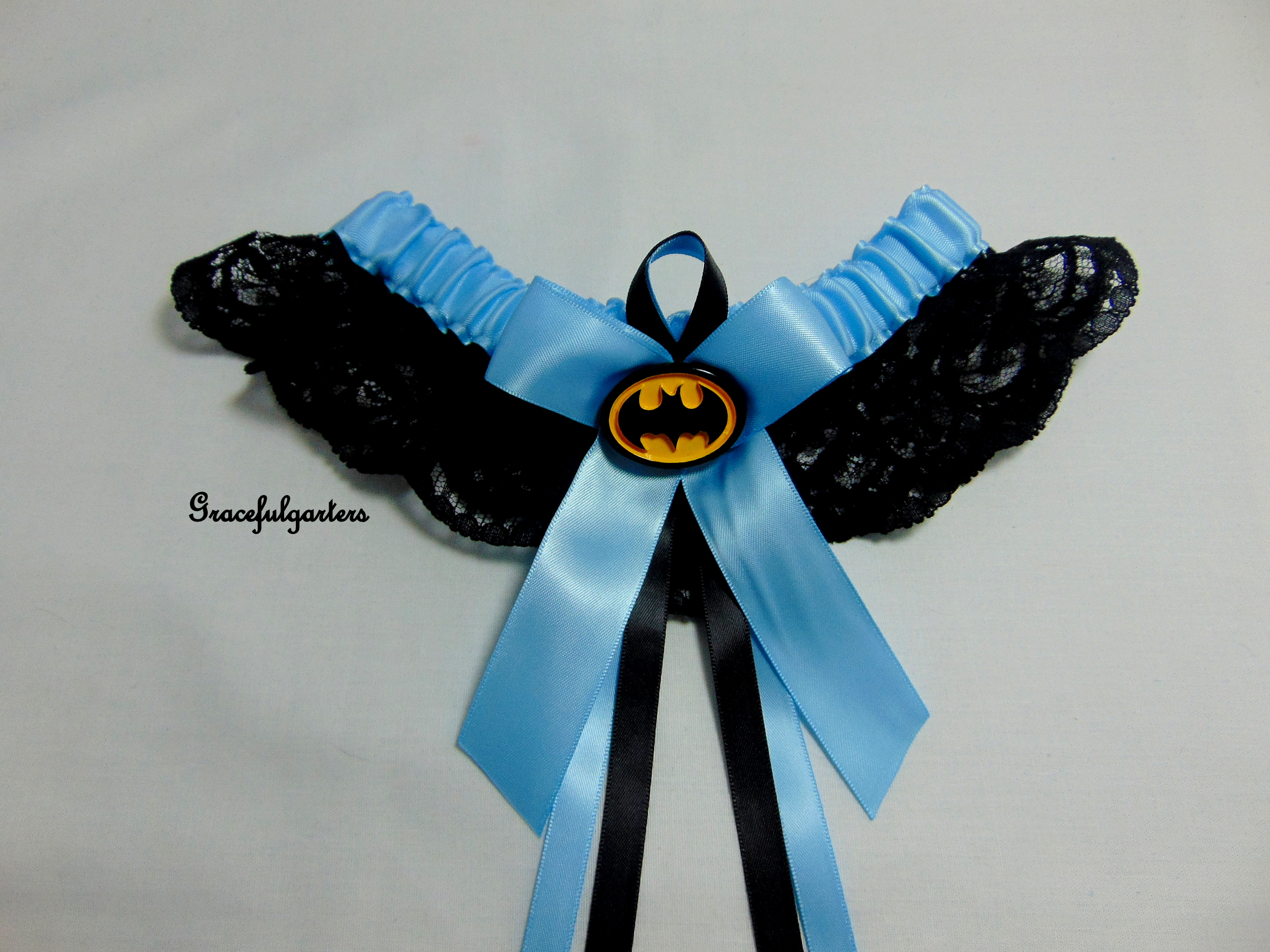 Batman Superhero Lace Bridal Wedding Garter