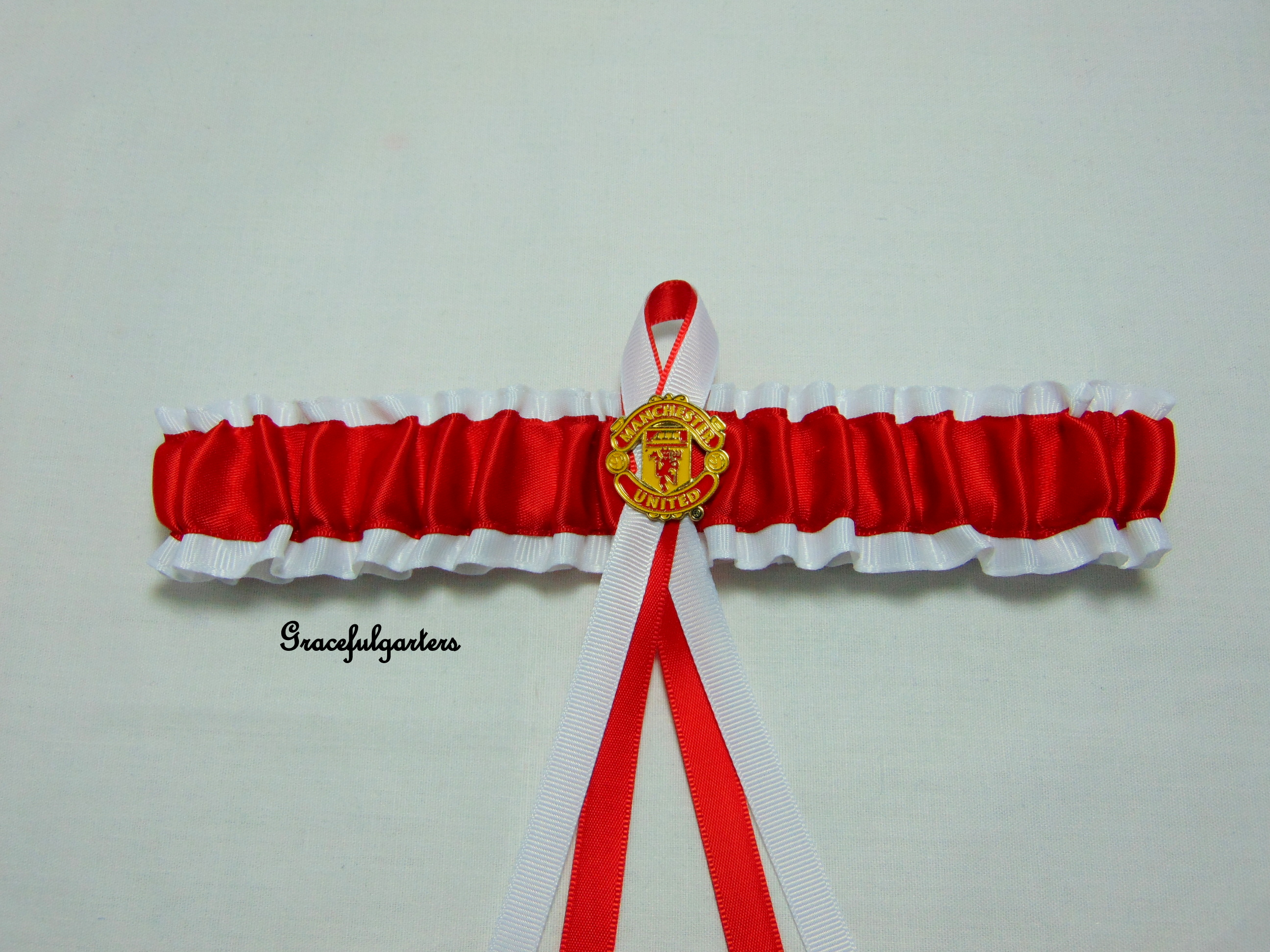 Manchester united football team bridal wedding garter