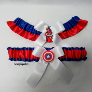 Avengers captain america Bridal wedding Garter set