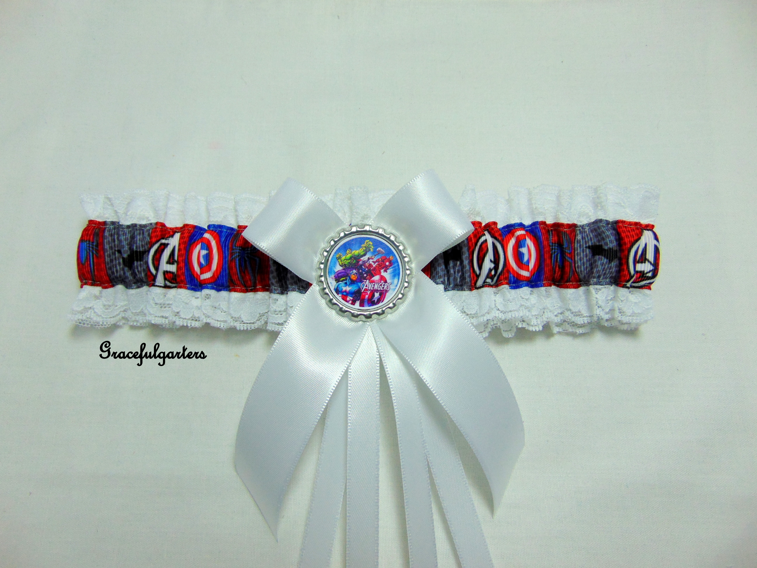 Avengers Superheroes Lace Bridal Wedding Garter