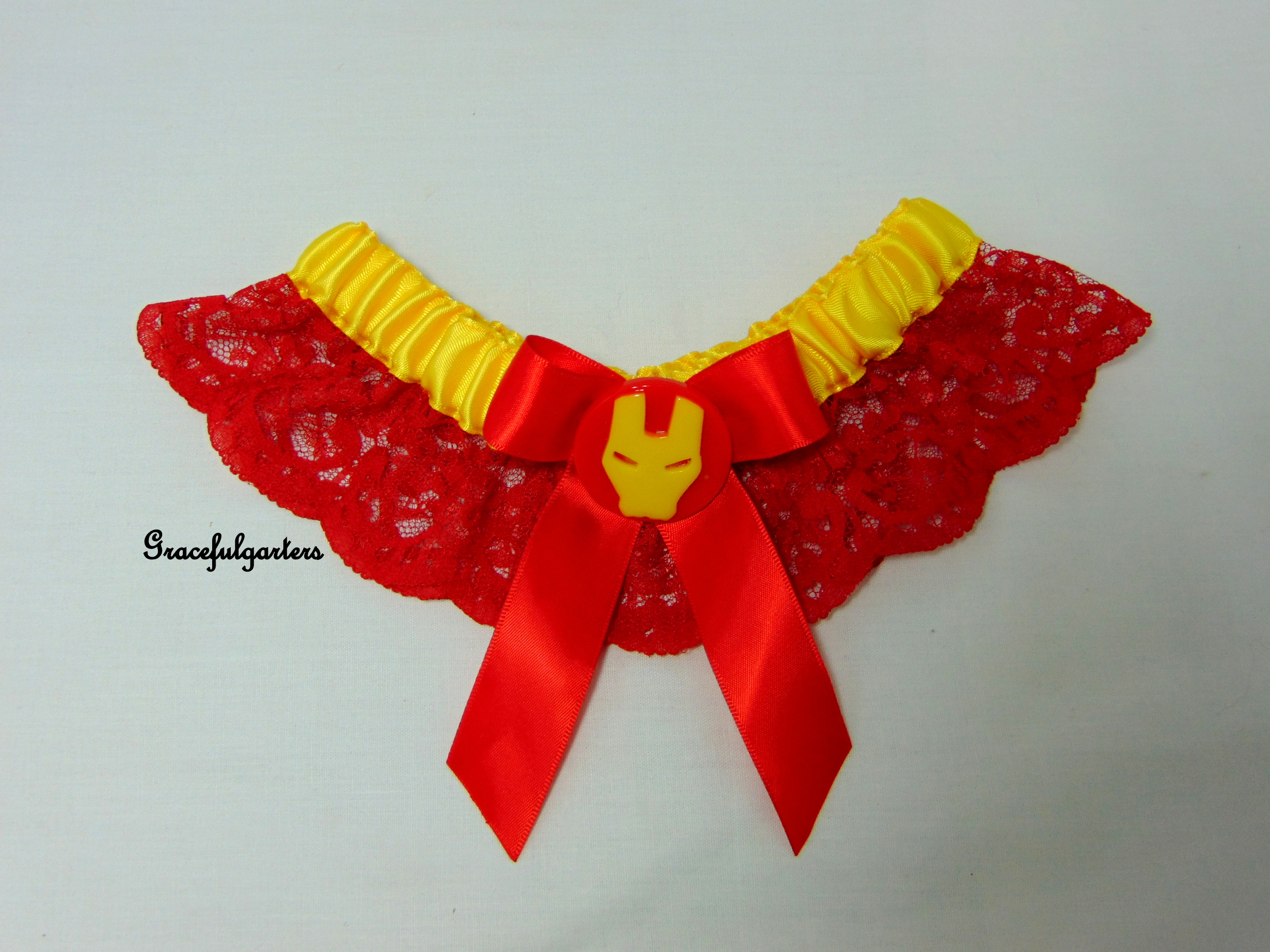 Avengers Ironman Lace Bridal Wedding Garter