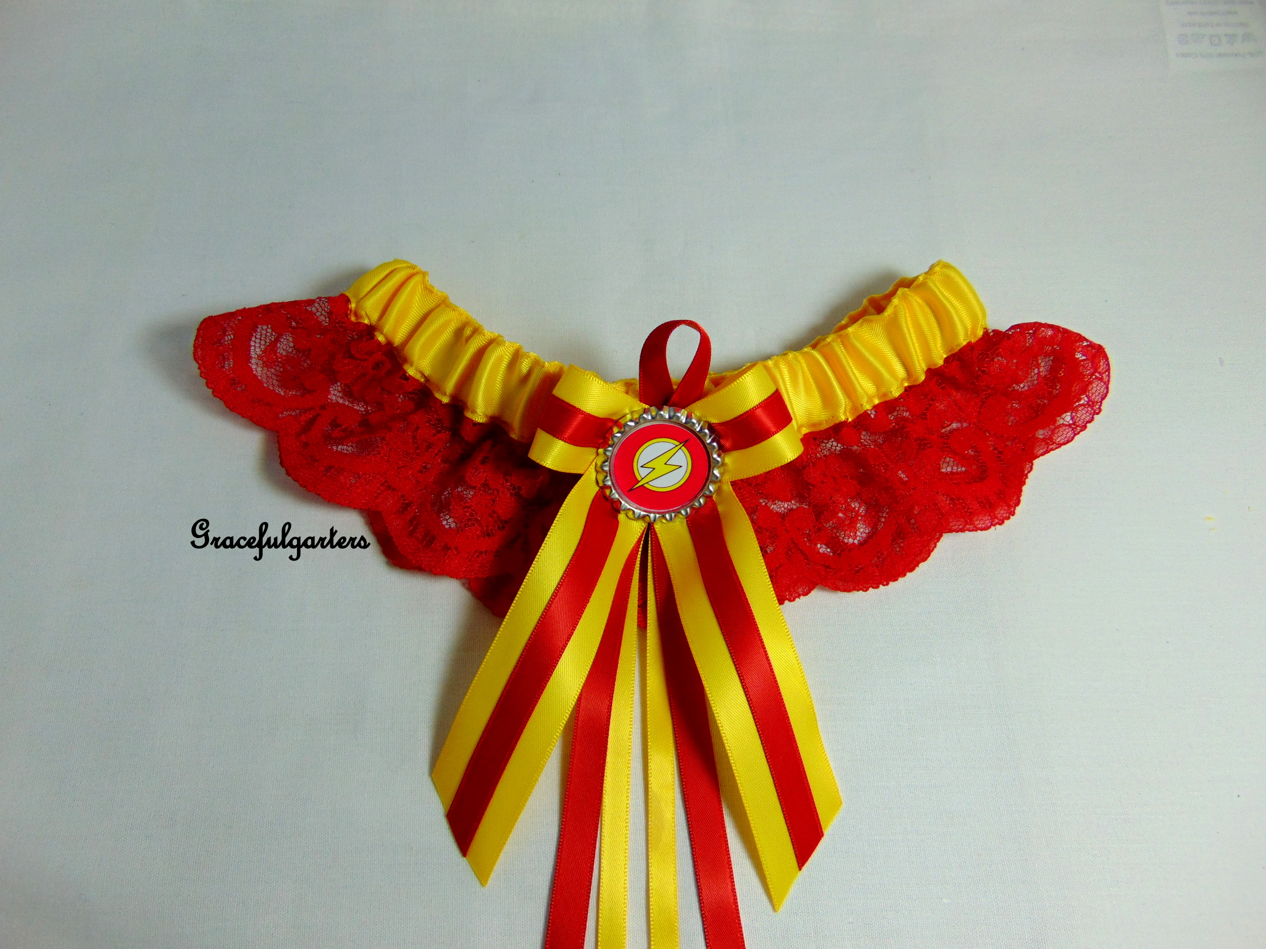 Flash Superhero Lace Bridal Wedding Garter