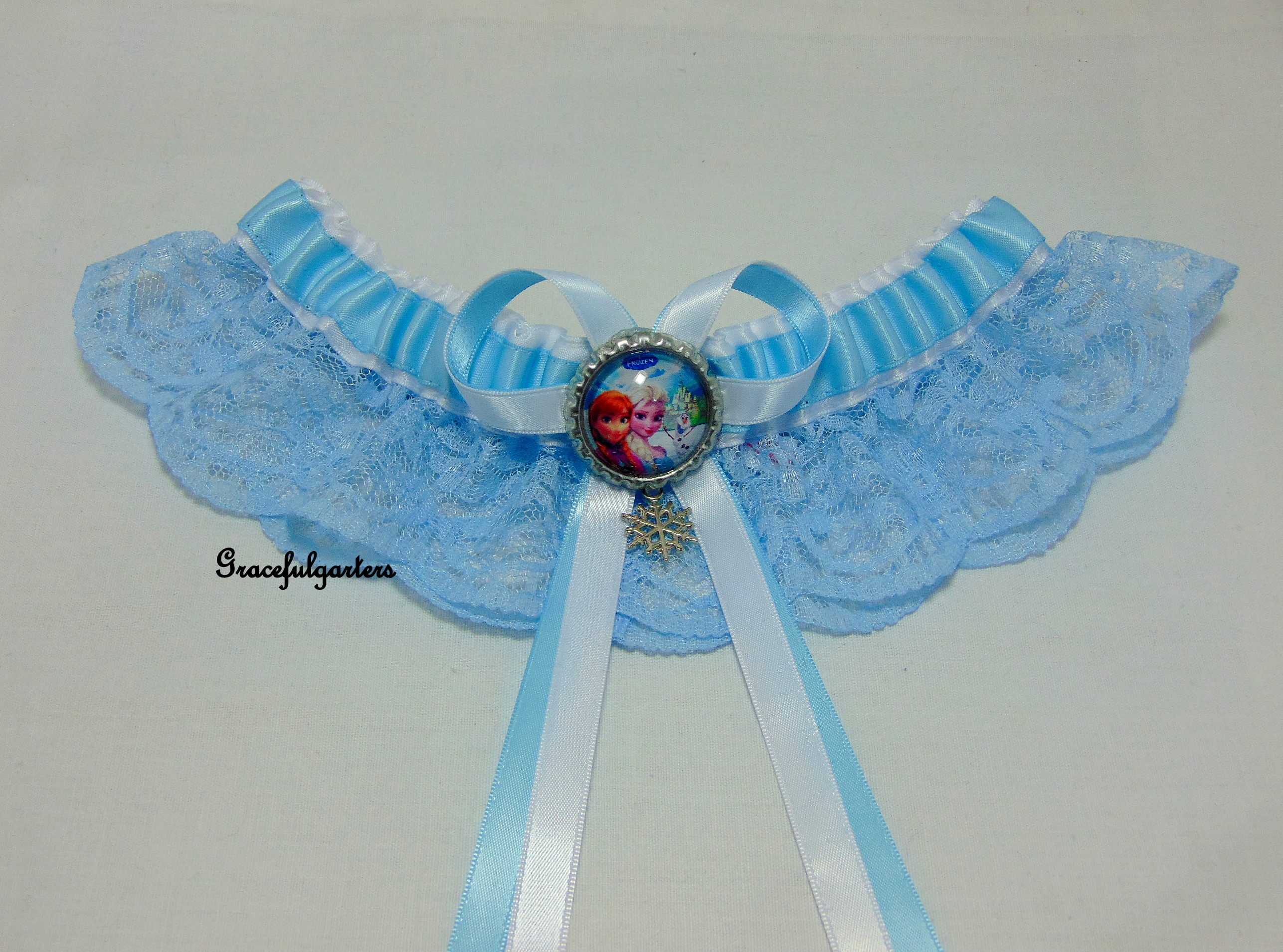 Frozen Disney Anna & Elsa Bridal Wedding Garter