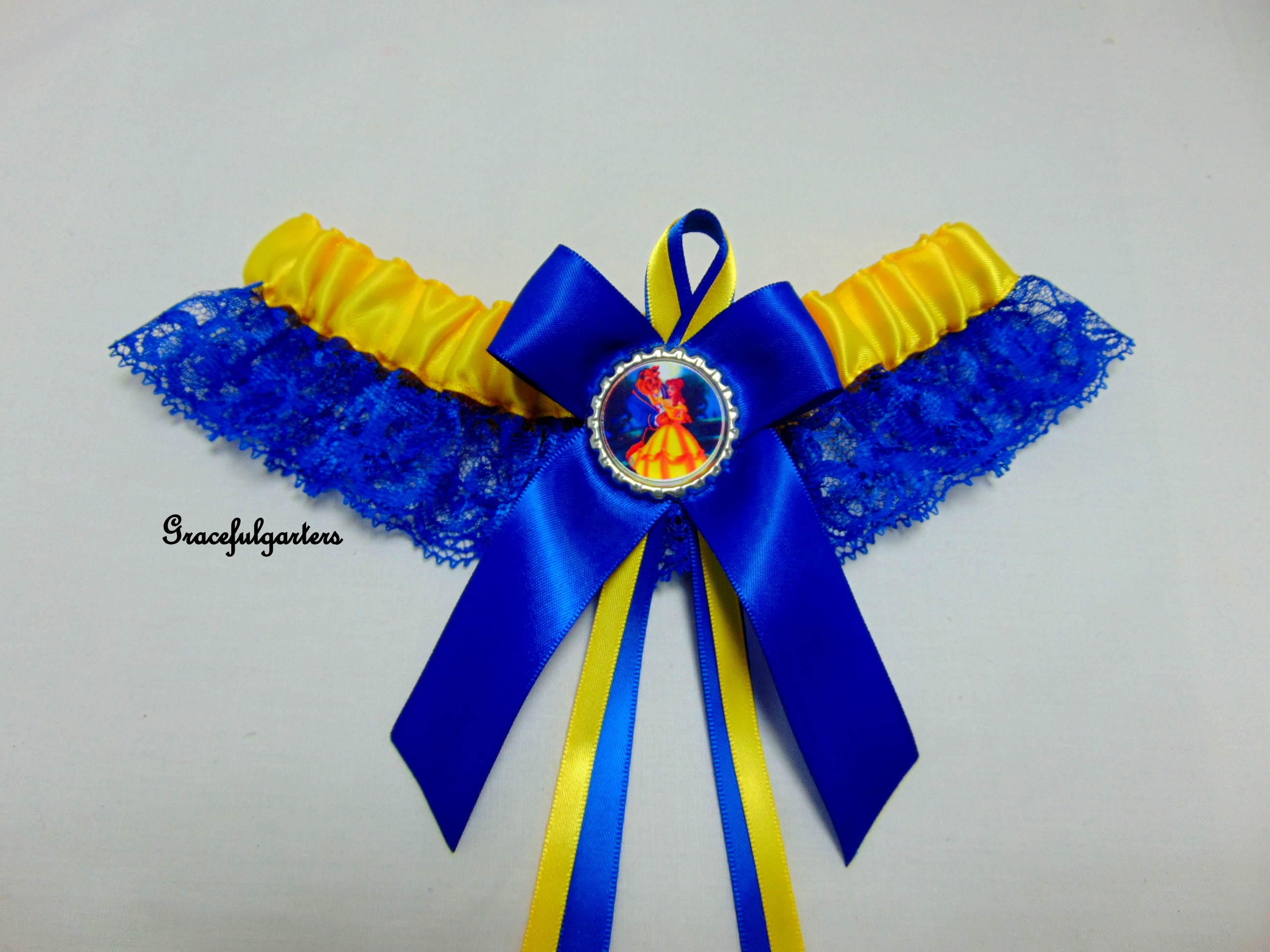 Beauty And The Beast Lace Bridal Wedding Garter