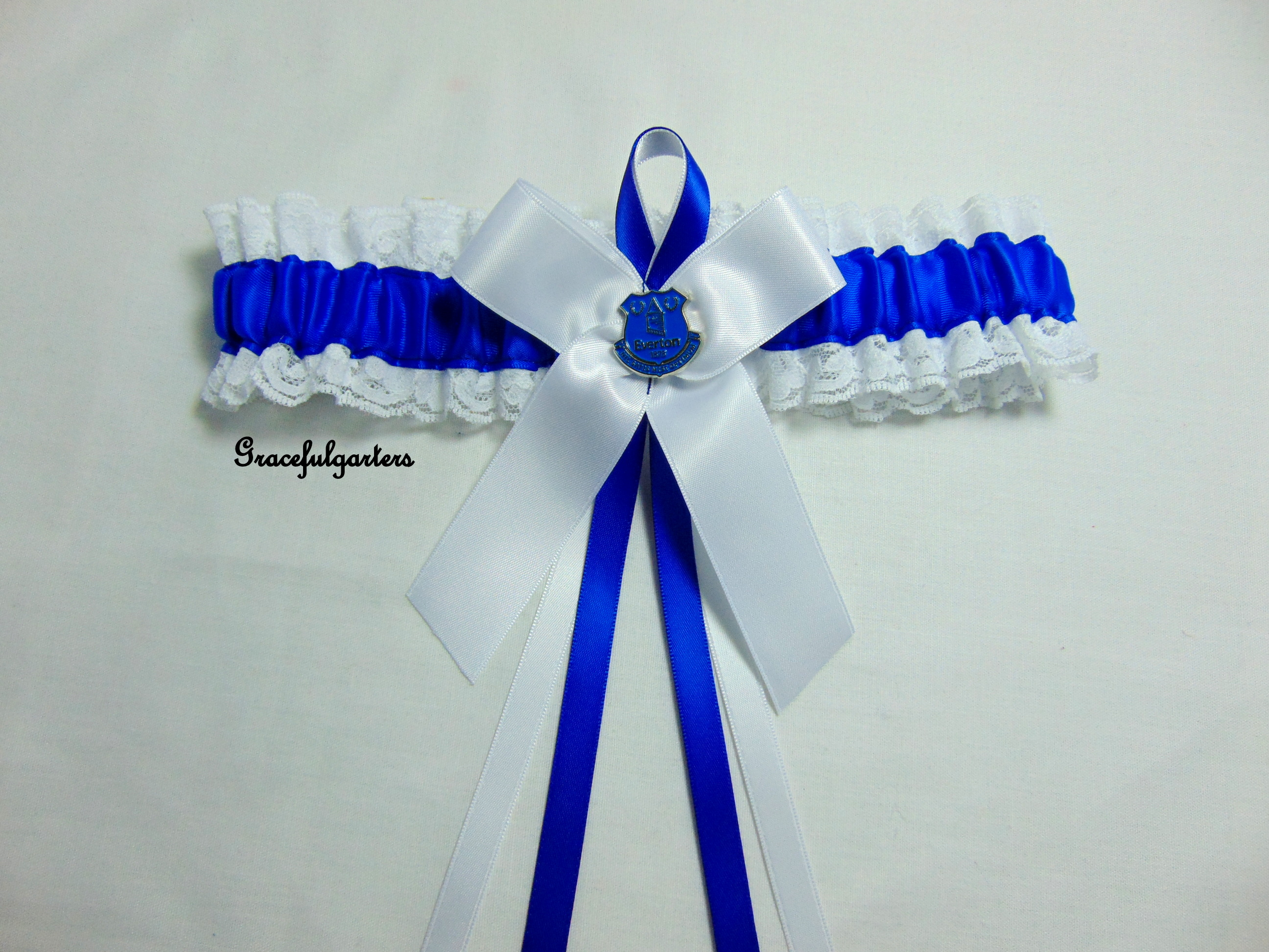 Lace Everton Football Team Bridal Wedding Garter