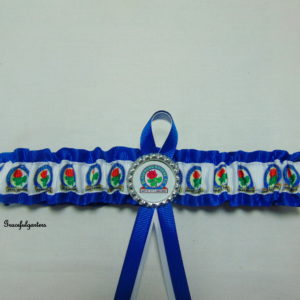 Blackburn Rovers Football Team Bridal Wedding Garter