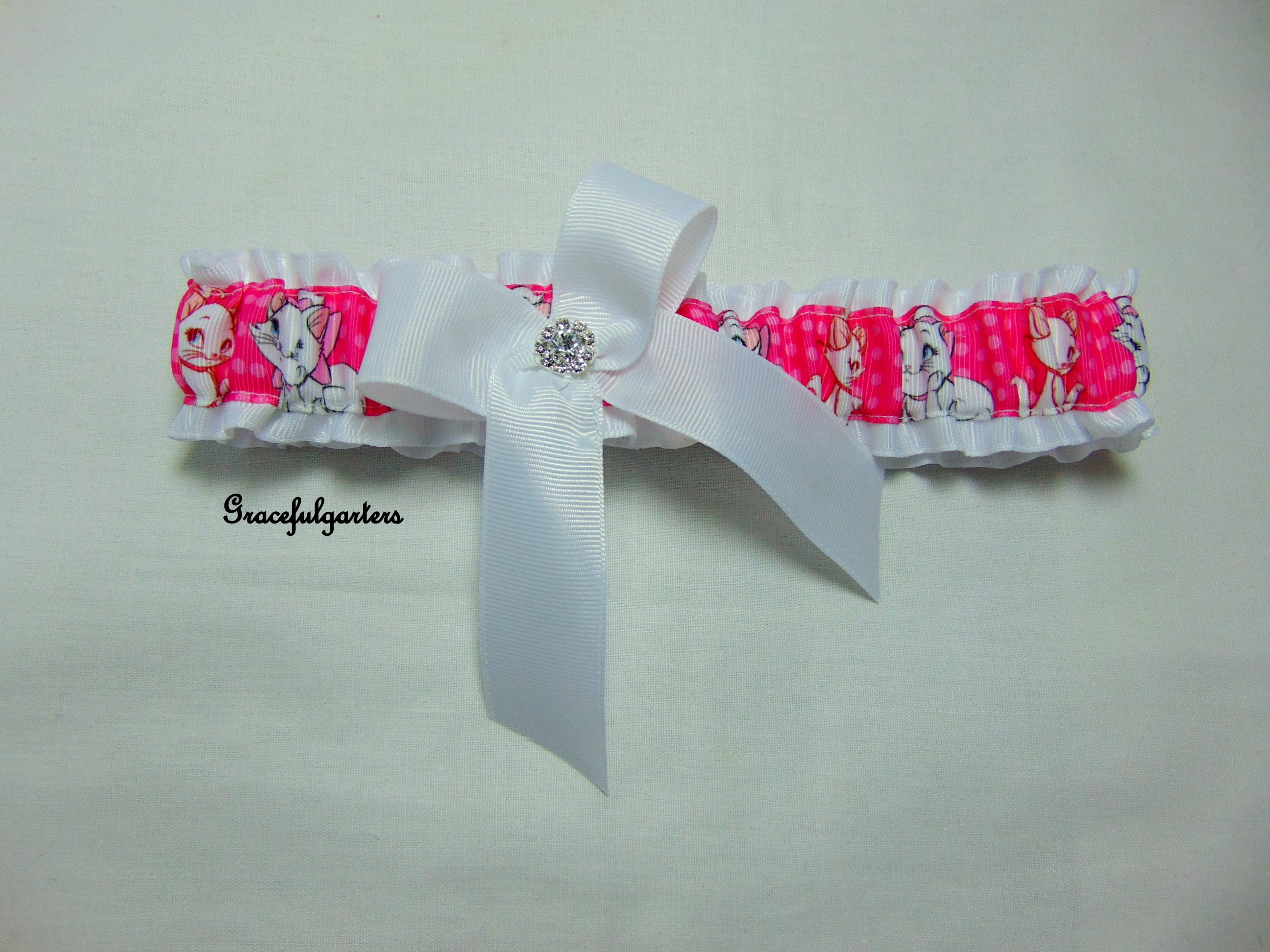 Aristocats Duchess Marie Bridal Wedding Garter