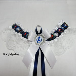 Avengers Superheroes Bridal Wedding Garter
