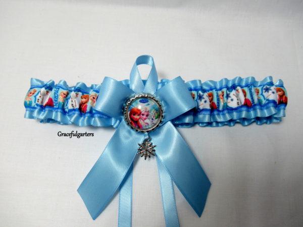 Frozen Anna Elsa & Olaf Disney Bridal Wedding Garter