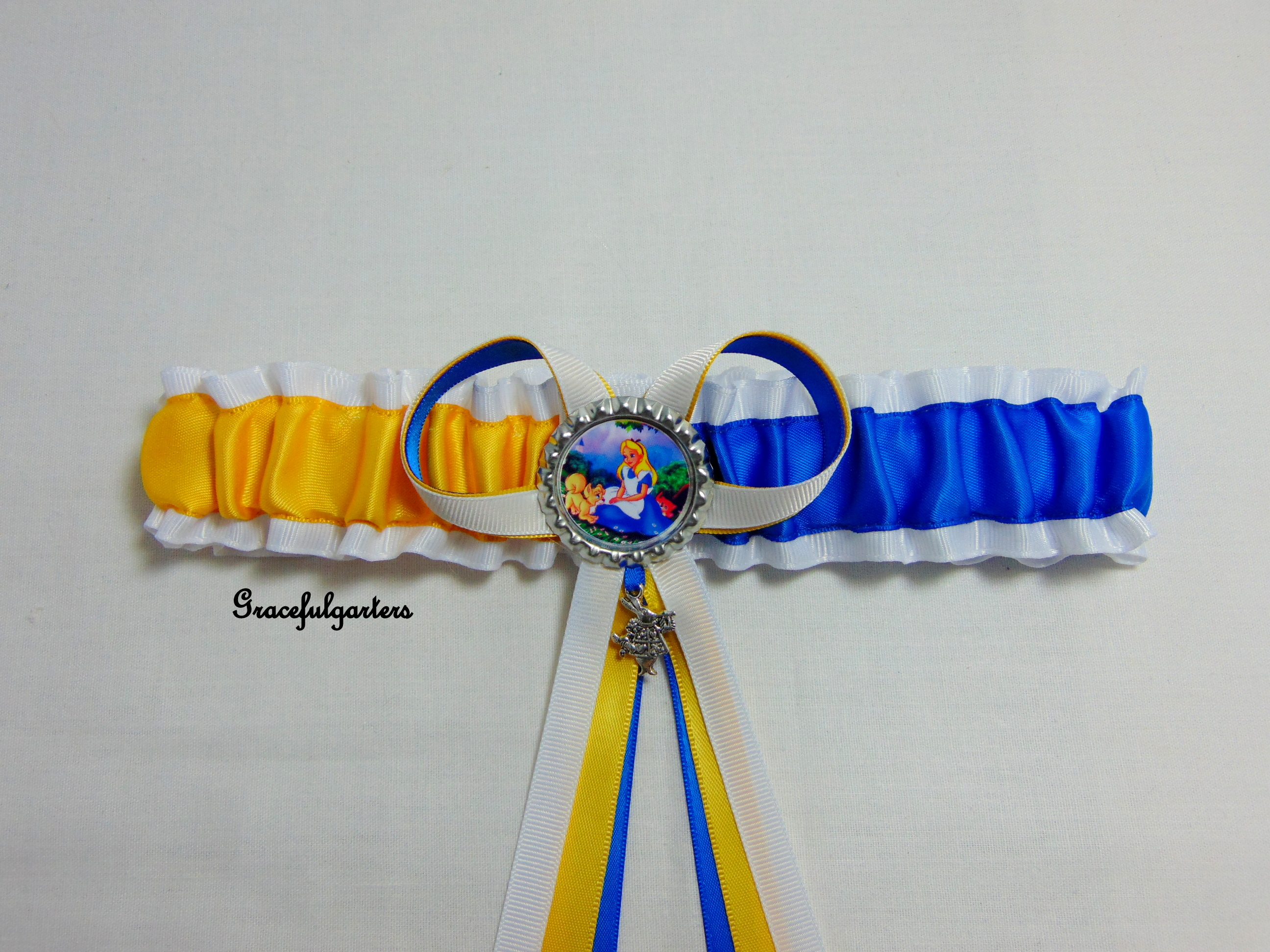 Alice In Wonderland Bridal Wedding Garter