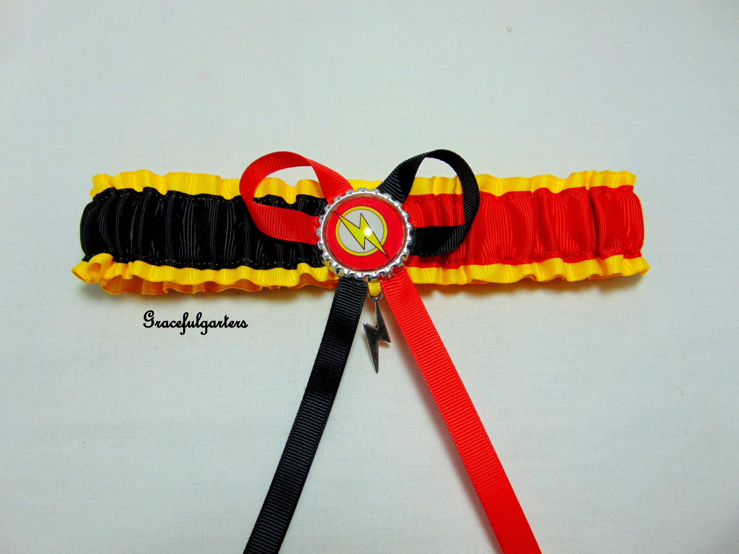 DC Comics The Flash Bridal Wedding Garter