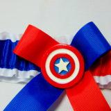 Avengers Captain America bridal wedding garter