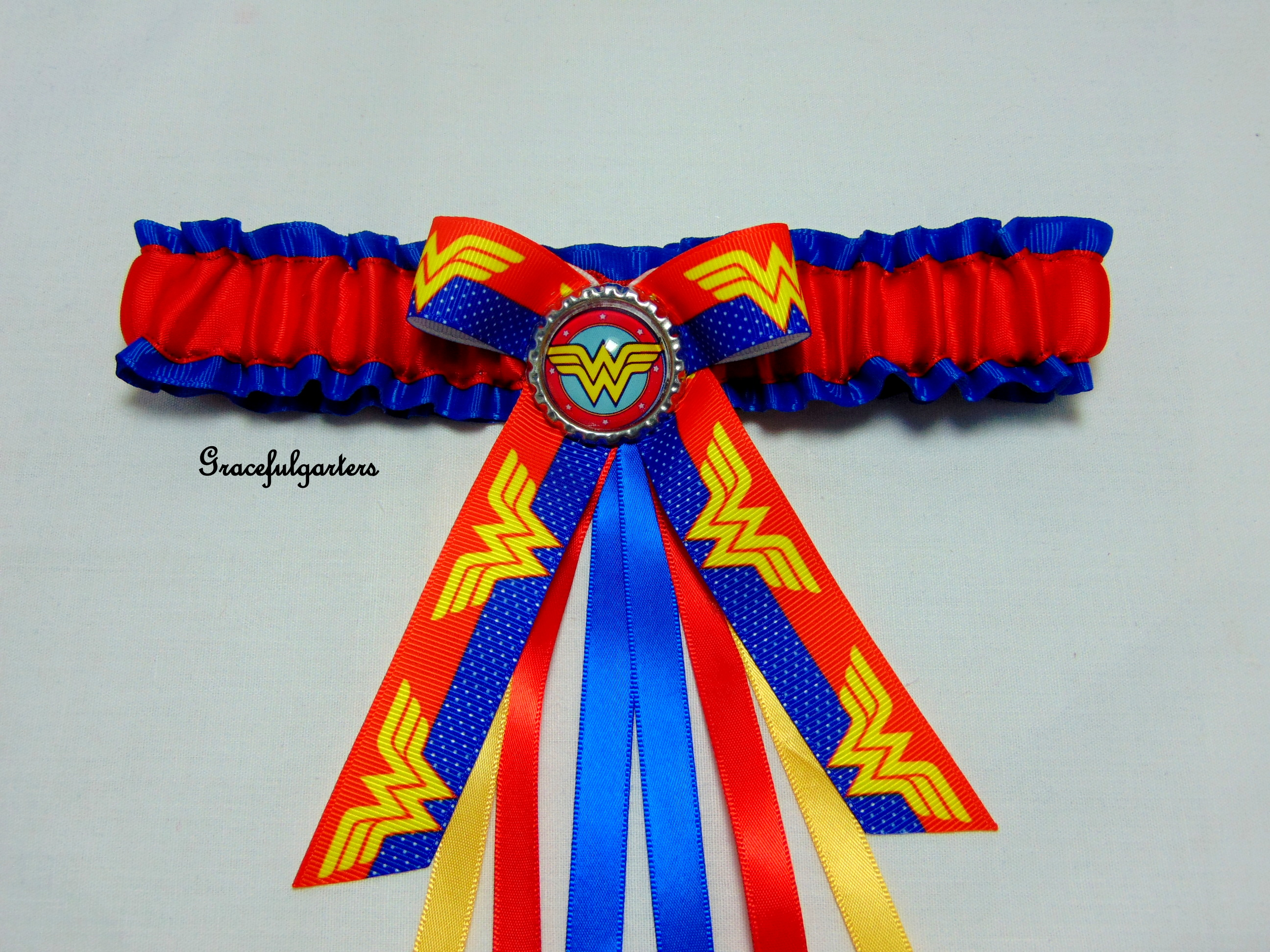 Wonder Woman Bridal Wedding Garter