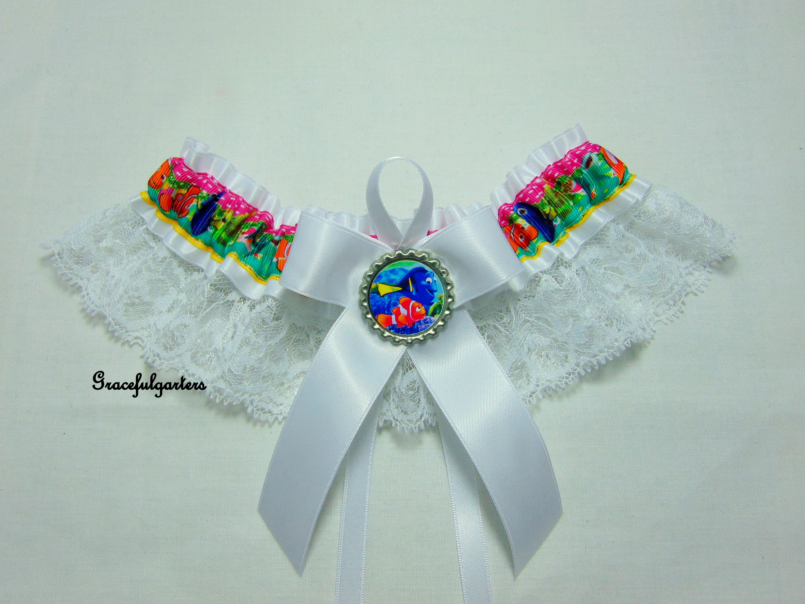Finding Nemo And Finding Dory Lace Bridal Wedding Garter