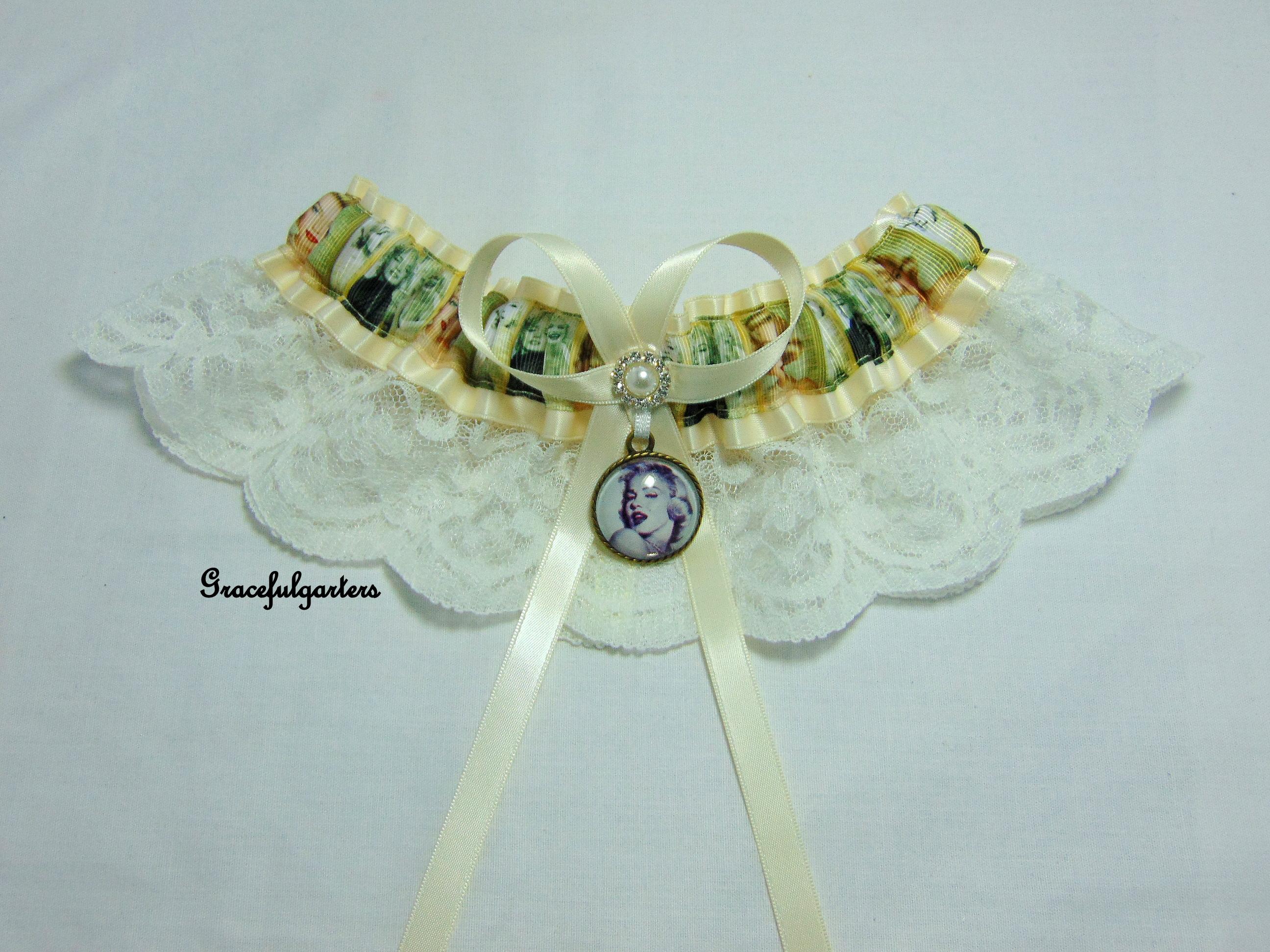 Marilyn Monroe Vintage Style Lace Bridal Wedding Garter