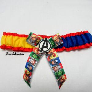 Marvel Avengers Bridal Wedding garter