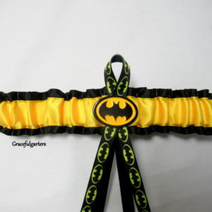 batman superhero bridal wedding garter