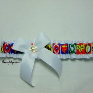 Superhero Themed Bridal Wedding Garter