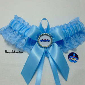 Batman Something Blue Lace Bridal Wedding Garter