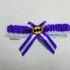 Batman Superhero Bridal Wedding Garter (Any Colour Satin)
