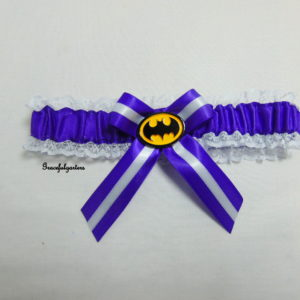Batman Superhero Bridal Wedding Garter (Any Colour Satin)