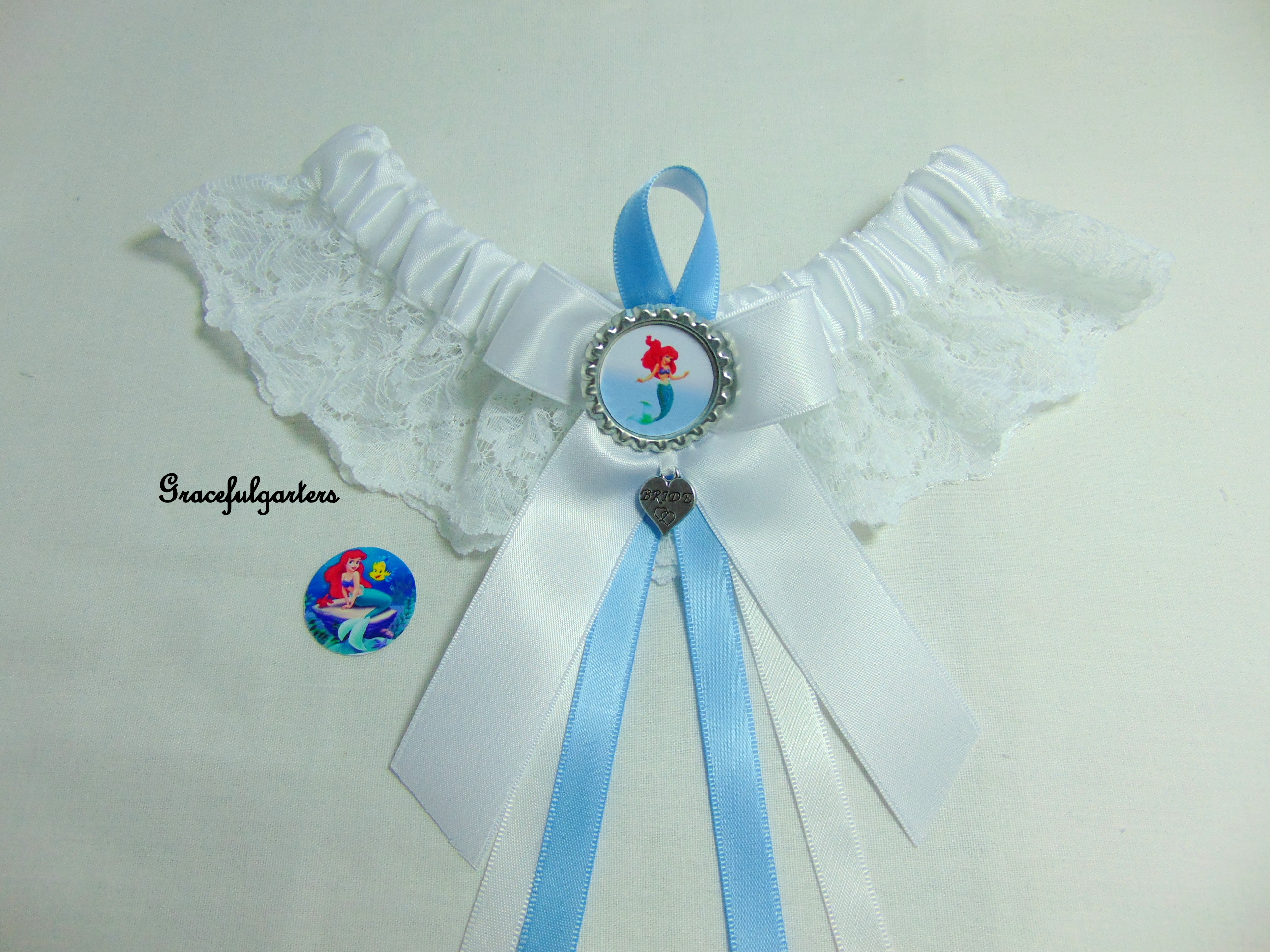 Disney Ariel The Little Mermaid Lace Bridal Wedding Garter