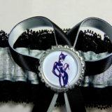 Cat woman Lace Trimmed Bridal Wedding Garter