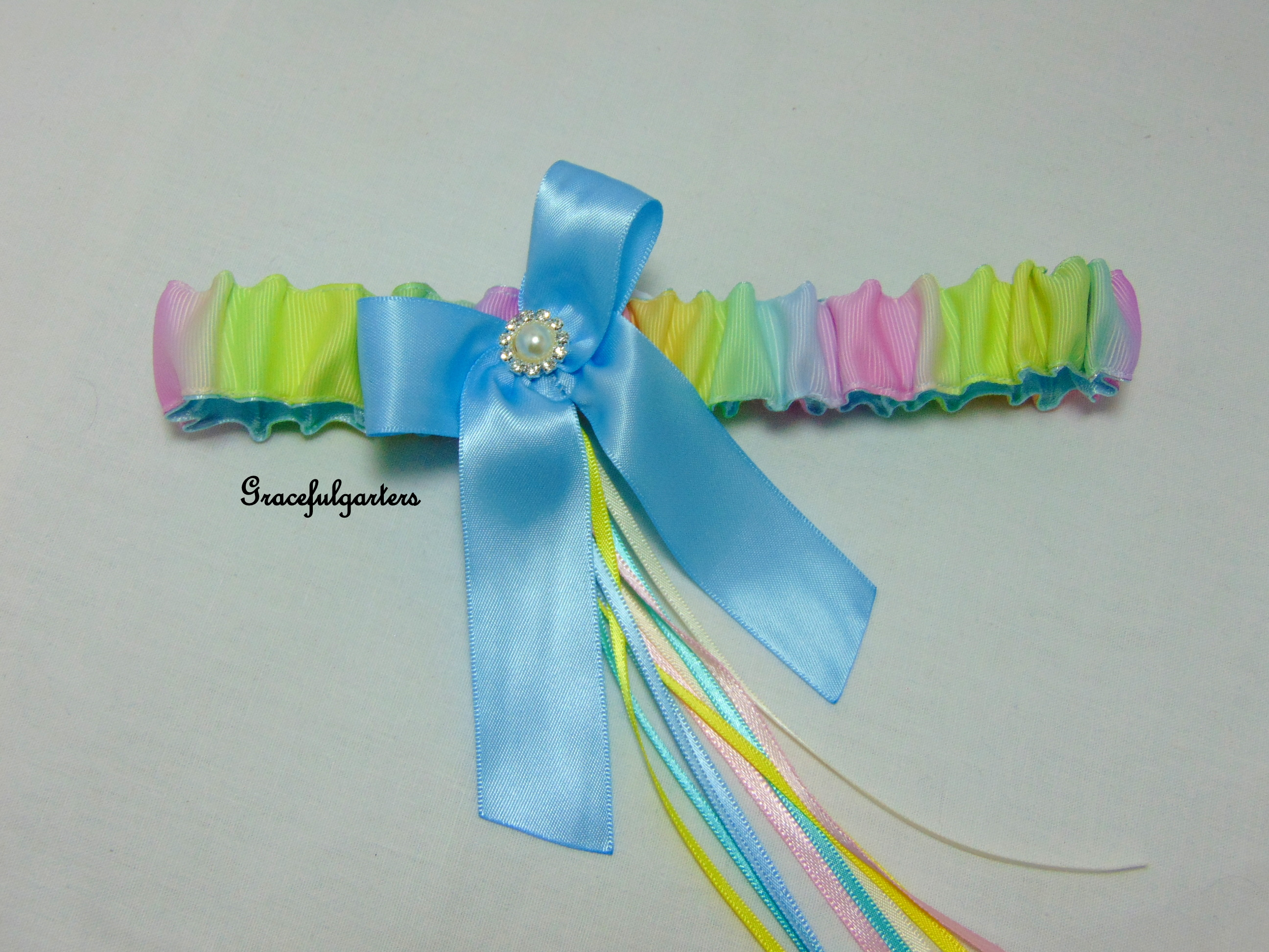 Rainbow Gay Pride Bridal Wedding Garter