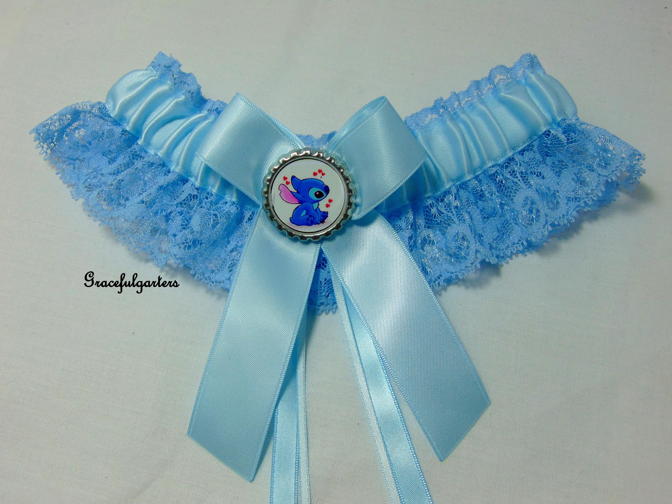 Stitch Blue Lace Bridal Wedding Garter