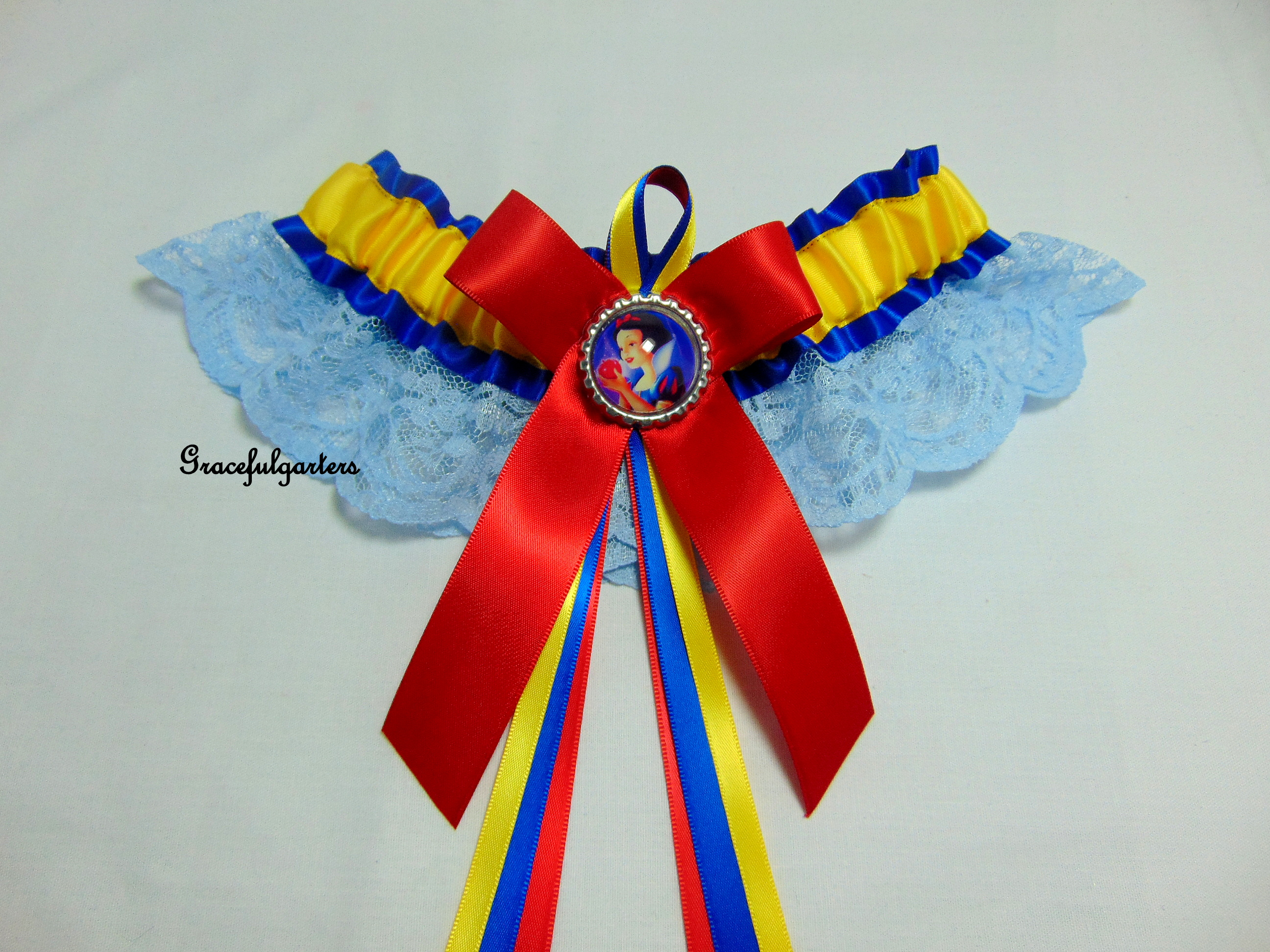 Disney Snow White Lace Bridal Wedding Garter