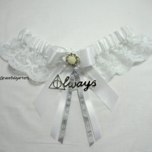 Harry Potter Deathly Hallows Always Lace Wedding garter.
