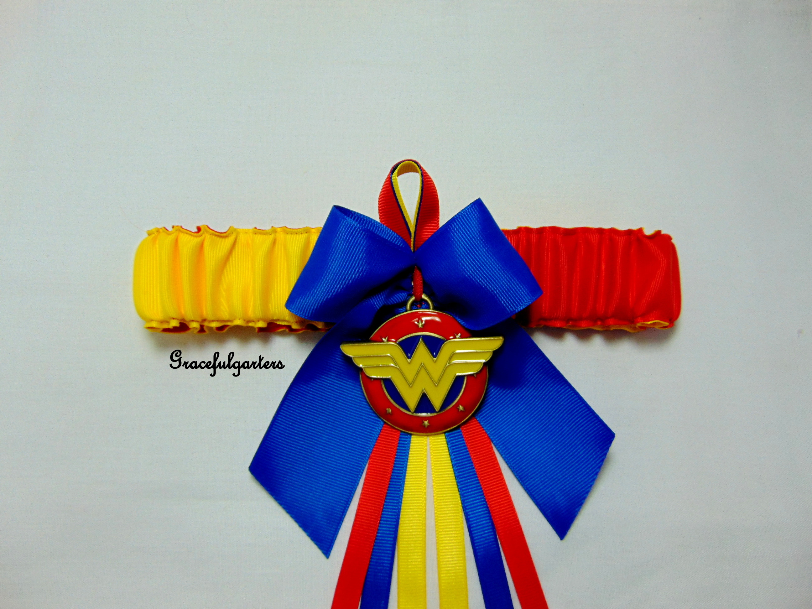 Wonder woman Bridal Wedding Garter