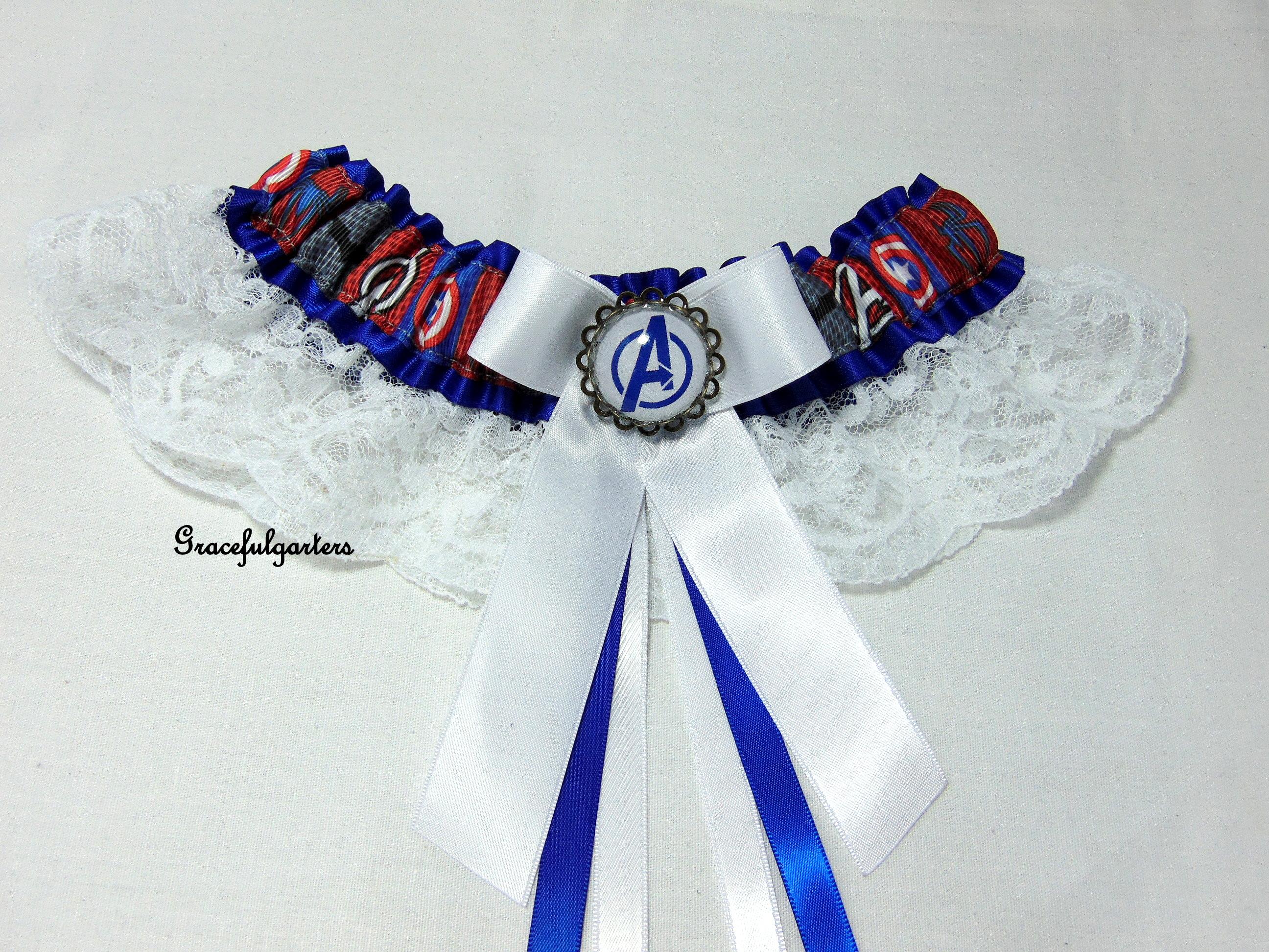 Avengers superhero Lace Bridal Wedding Garter