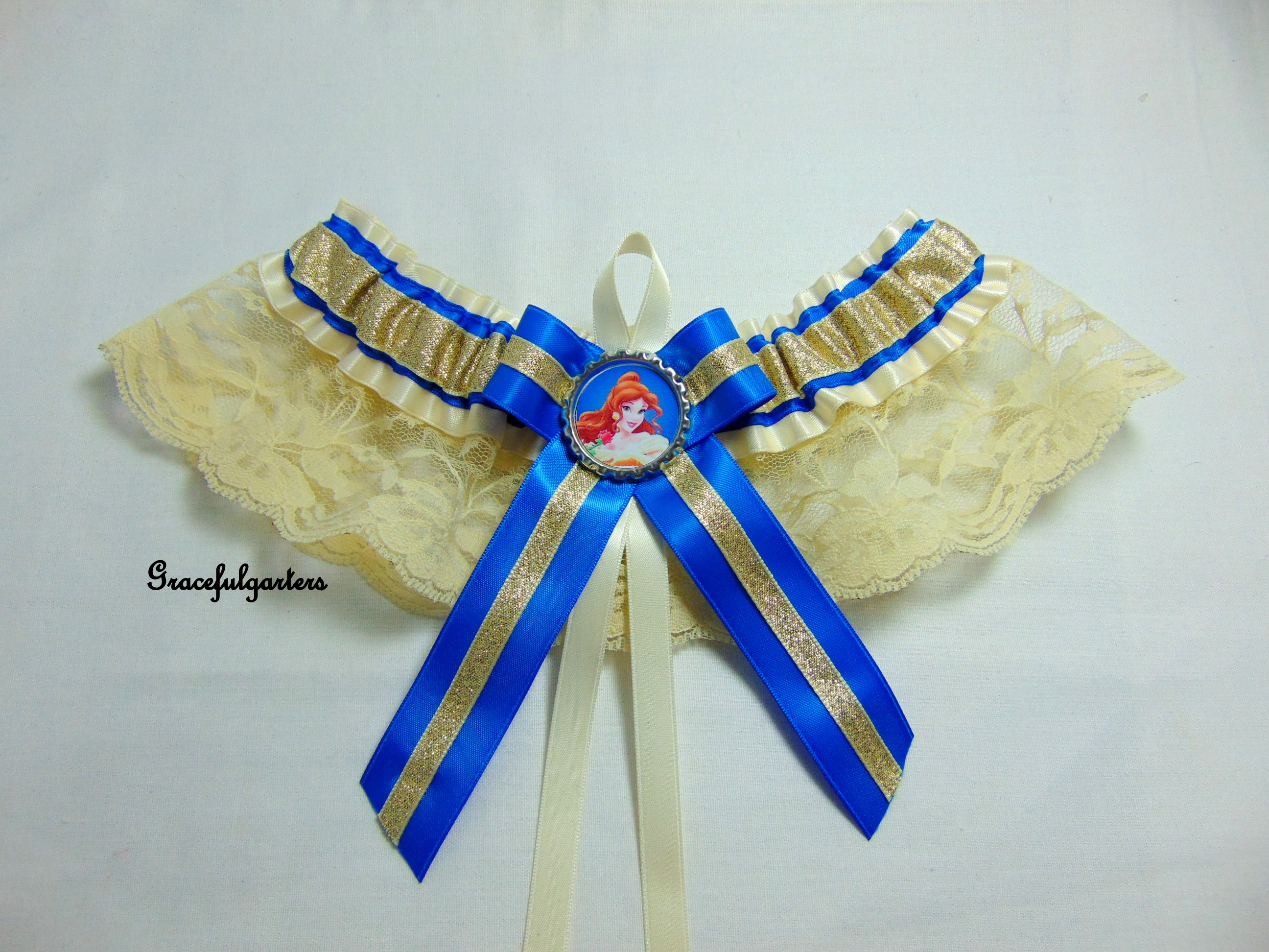 Belle Disney Bridal Wedding Garter