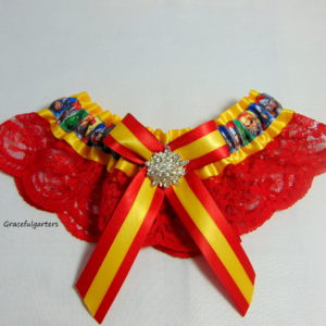 Avengers Embellished Lace Bridal Wedding Garter