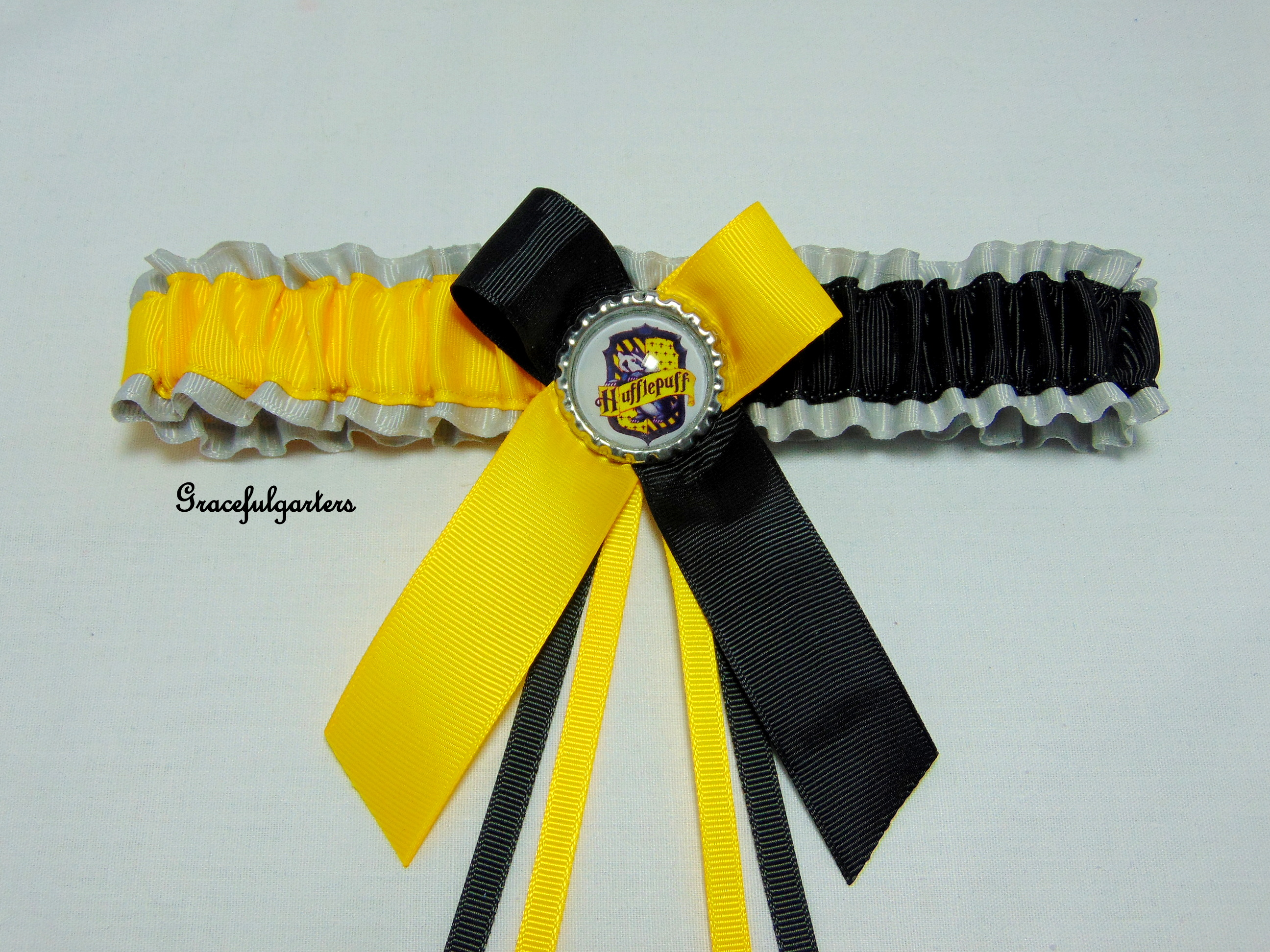 Harry Potter Hufflepuff Bridal Wedding Garter
