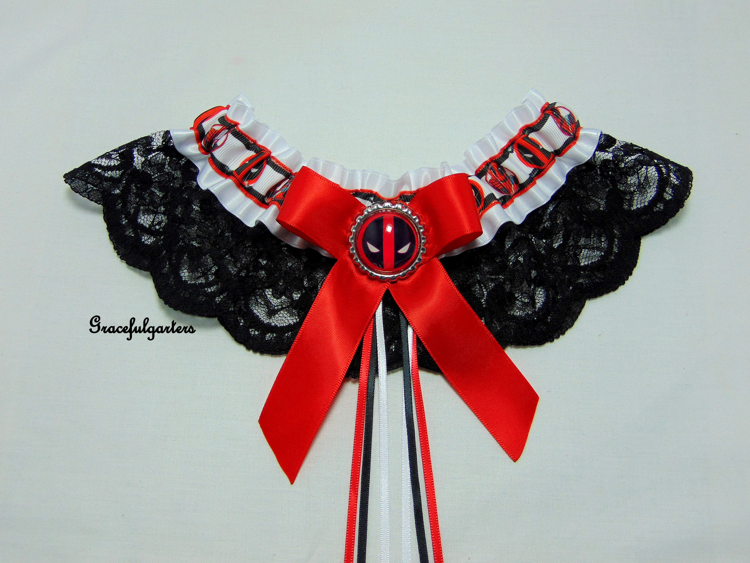 Deadpool Lace Bridal Wedding Garter