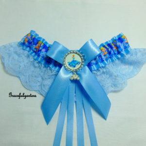 Cinderella Disney Blue Lace Bridal Wedding Garter