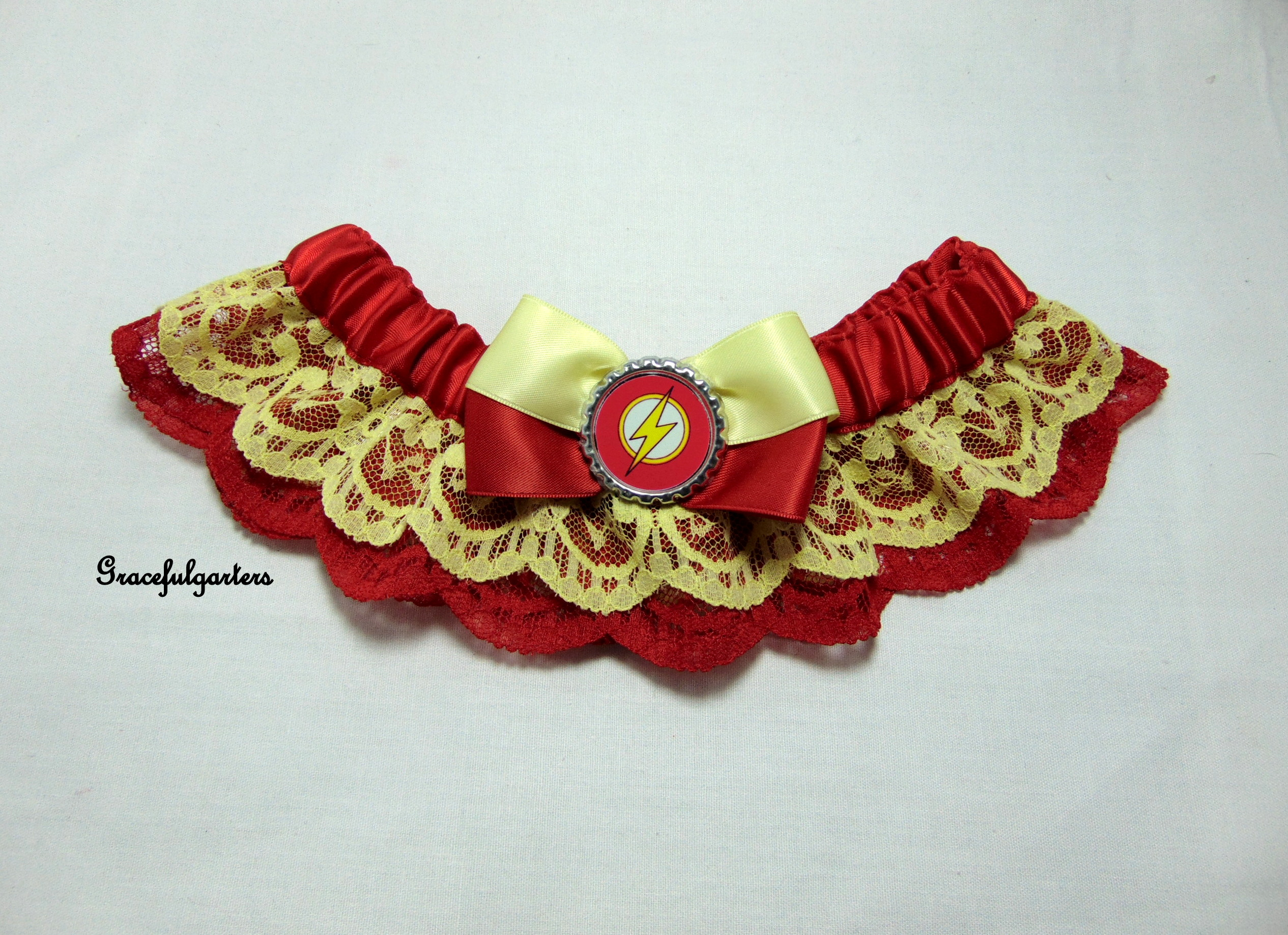 DC Comics Flash Superhero Bridal Wedding Garter
